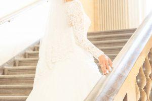 Saal Braut Brautkleid Hochzeit Hochzeitsfoto Türkischer Hochzeitsfotograf Fotograf Stadthalle Wuppertal Treppe Treppenhaus Pixeldreams