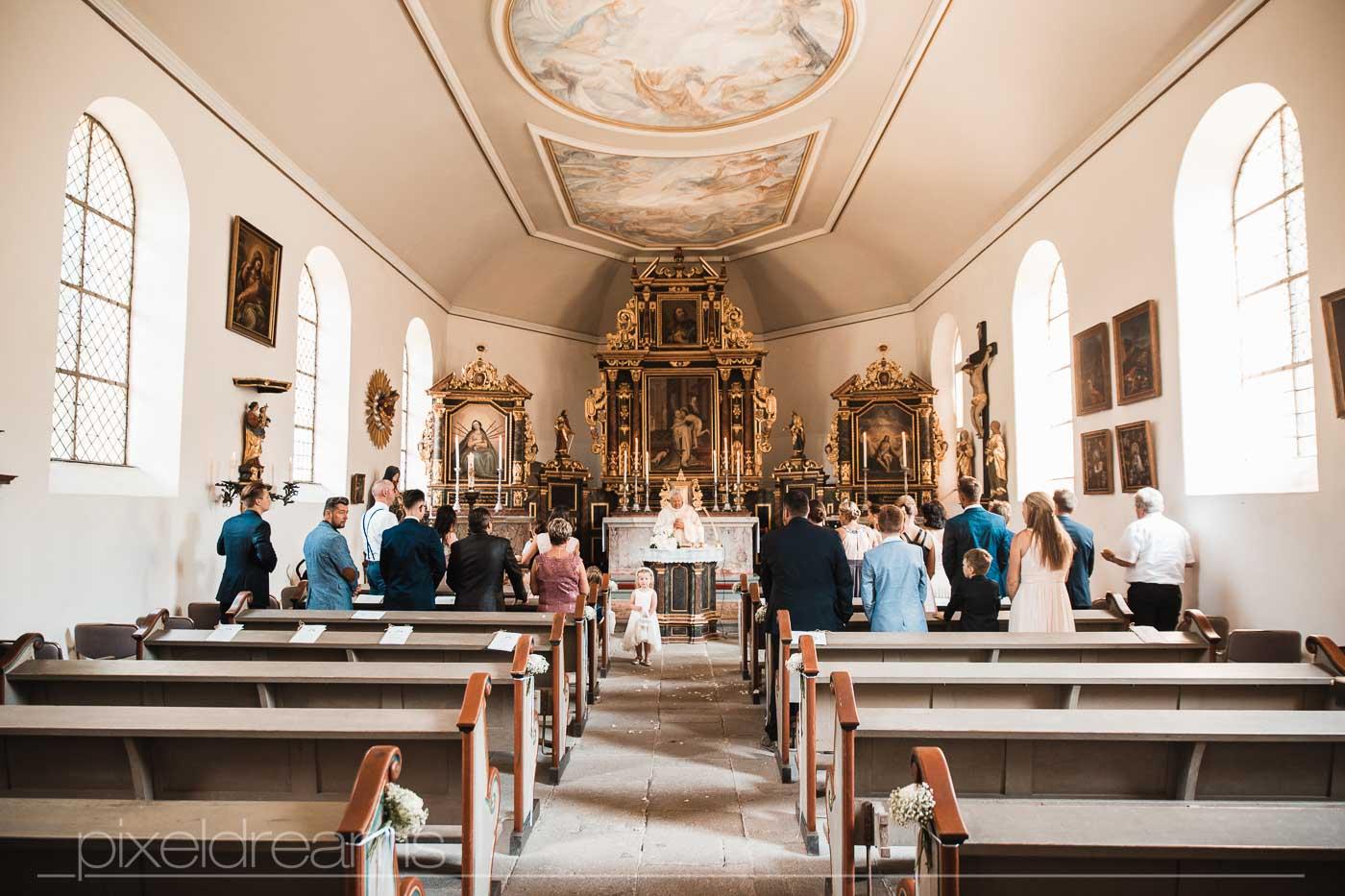 Hochzeit in der Petersberg-Kapelle